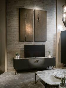 PANGEA Fernsehschrank GEA Collection, TV-Ständer mit edler Marmorplatte