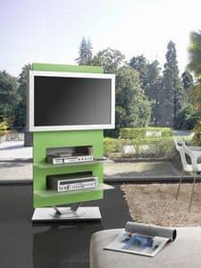 Fernsehst nder transportwagen aus messing stahl und glas - Mobili per angoli ...