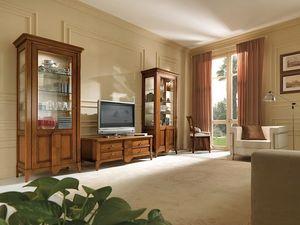 Salieri Fernsehkabinett, TV-Schrank aus Holz, mit Schubladen