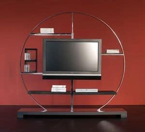 Tao TV holder, TV-Ständer aus Stahl und Laminat, für Luxus-Wohnzimmer