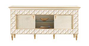 SIPARIO Fernsehschrank, TV-Schrank im klassischen Stil mit Türen
