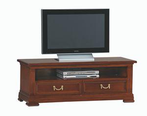 Villa Borghese TV-Möbel 5377, TV-Ständer mit zwei Schubladen