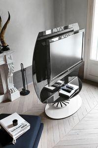 VISION PP113, Drehbarer TV-Ständer aus Glas und Metall