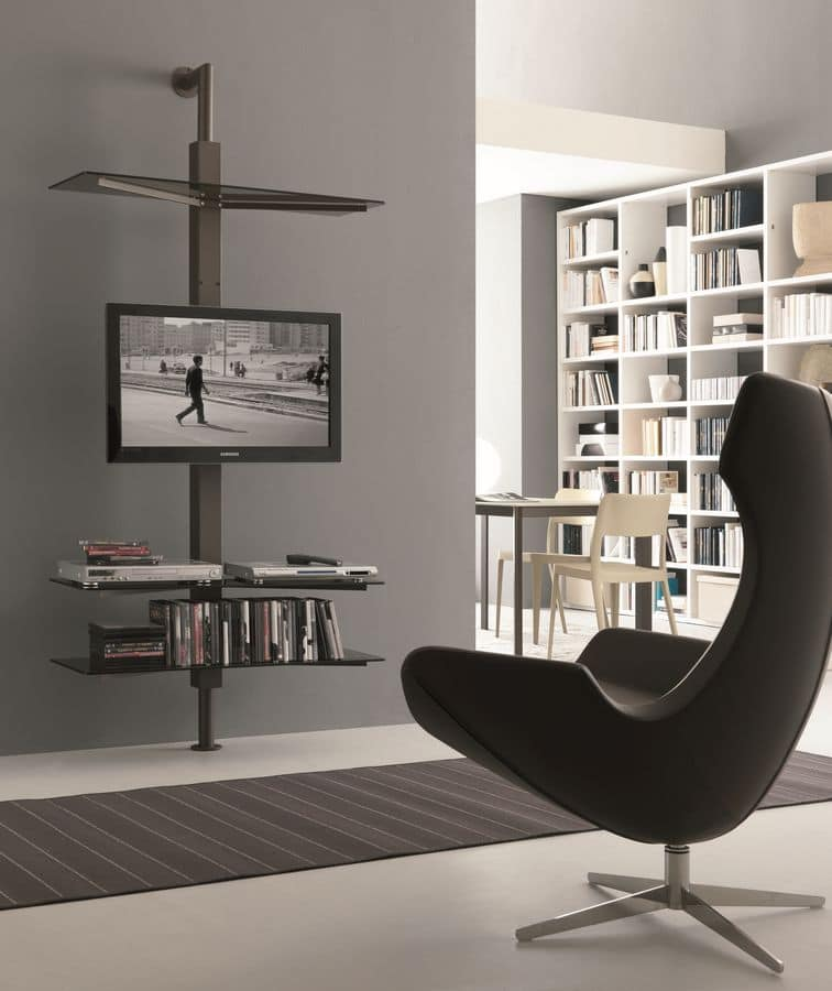 einstellbare tv st nder wand oder decken idfdesign. Black Bedroom Furniture Sets. Home Design Ideas