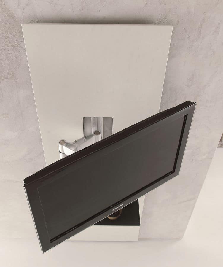 schrank f r tv mit regal einstellbar bis 180 idfdesign. Black Bedroom Furniture Sets. Home Design Ideas