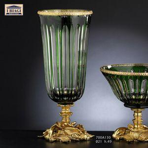 730-760-700Axxx, Vasen und dekorative Objekte aus Kristall, Gold und Bronze