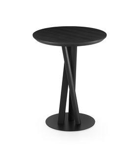 ART. 00123-R NIELS TABLE, Runder Tisch auf gewebter Basis