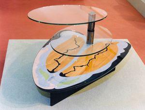Art. 234, Couchtisch für Wohnzimmer mit 2 Glasböden