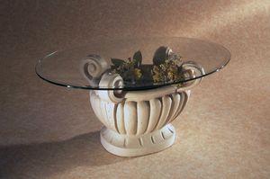 Asolo, Couchtisch mit ovaler Platte