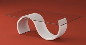 Crono, Moderner Beistelltisch mit Steineffektgestell