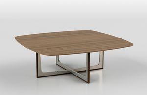 Cross low table 1, Couchtisch mit Keramik oder Holzplatte