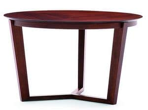 Flen 903 - 904, Runder Couchtisch, einem Buchenholzgestell, Buche oder Marmorplatte