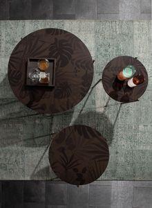 ICON, Runde kleine Tische mit Dschungel-Siebdruck