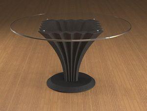 Liko, Couchtisch mit runder Glasplatte