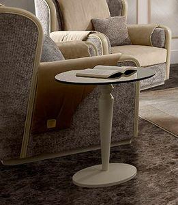 Oliver Art. OL16/55, Kleiner Tisch mit runder Platte aus bronziertem Glas
