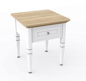 Romantica kleiner Tisch 3517, Couchtisch aus Holz mit Schublade