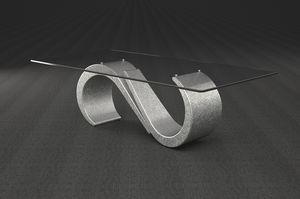 Urano, Couchtisch mit rechteckiger Glasplatte
