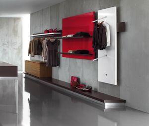 Revolution - Schrankwand für Kleidung 2, Wandregale für Bekleidungsgeschäfte