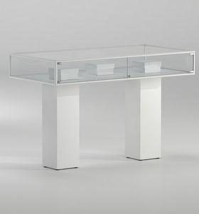 ALLdesign plus 5/PLP, Display-Vitrinen, mit zwei weißen Säulen