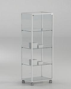 ALLdesign plus 51/14P, Glasvitrine auf Rädern, für Shop