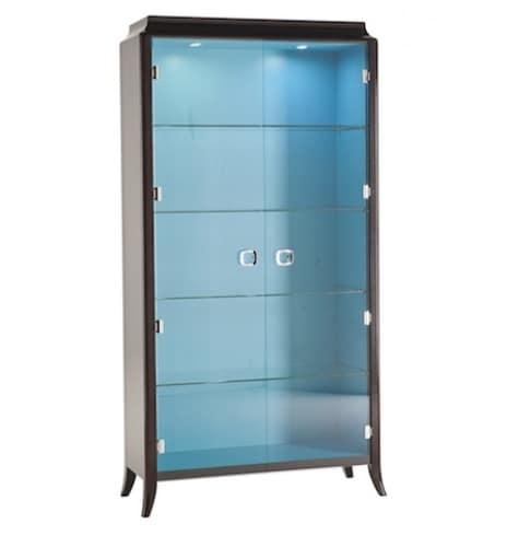 vitrine mit zwei glast ren mit licht idfdesign. Black Bedroom Furniture Sets. Home Design Ideas