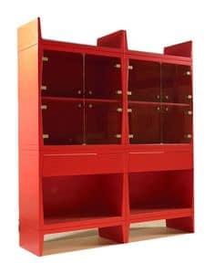 Bright, Red modernen Vitrinen für Esszimmer geeignet