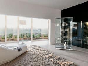 GRACÌA, Ausstellende Möbel aus gebogenem Glas, für moderne Wohnzimmer