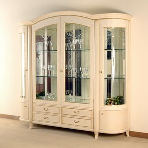 Hilton Vitrine 4 Türen, Elegante Vitrine im klassischen Stil