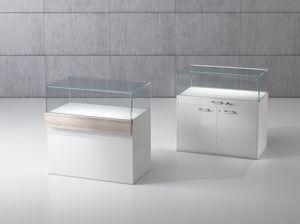 QF/10B, Holzbank mit gehärtetem Glaskasten