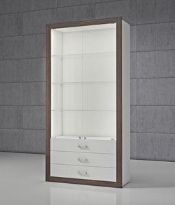 QF/SC, Modulares Schaufenster mit Schubladen und Türen
