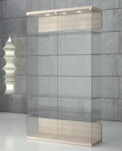Quadratum VE/120, Vitrine aus gehärtetem Glas mit Schloss