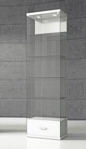 Quadratum VE/60C, Vitrine mit Sockel mit Schublade