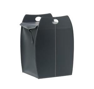 Paul, Wäschekorb mit quadratischem Boden, aus Leder, für zu Hause