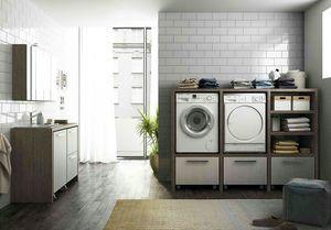 LAVANDERIA 10, Modularer Waschraum mit Waschbecken