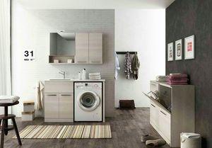 LAVANDERIA 8, Modulare Wäscherei mit Klapptüren mit Spüle