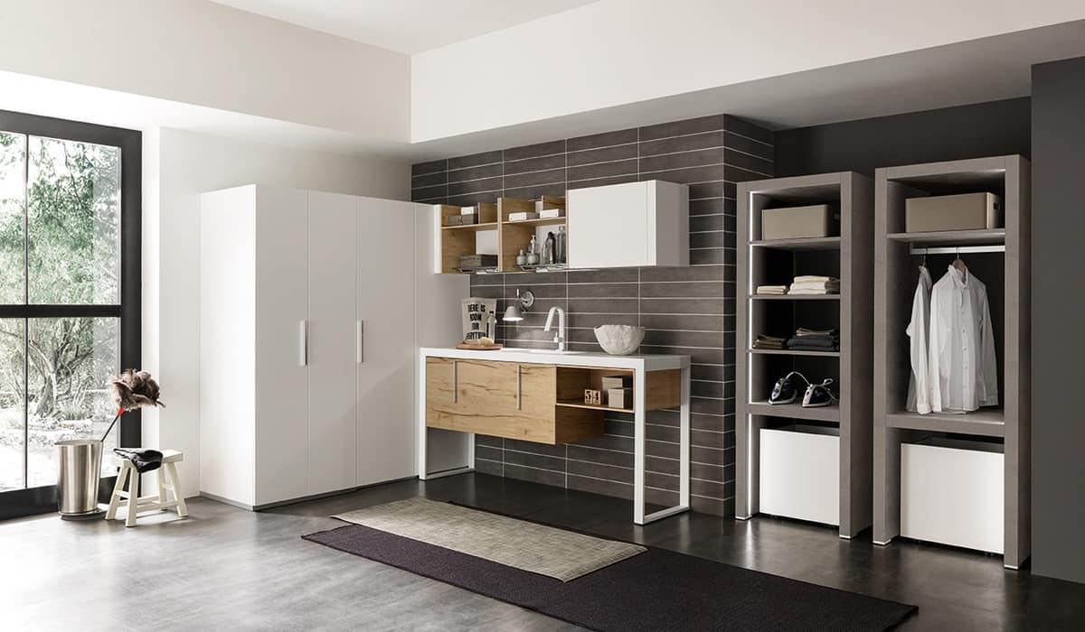 waschraumm bel mit verstecktem fach f r waschmaschine und. Black Bedroom Furniture Sets. Home Design Ideas