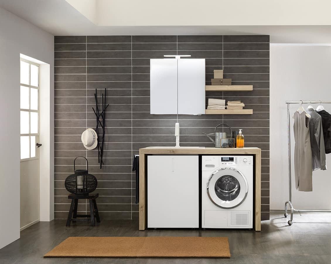 platzsparende waschm bel idfdesign. Black Bedroom Furniture Sets. Home Design Ideas