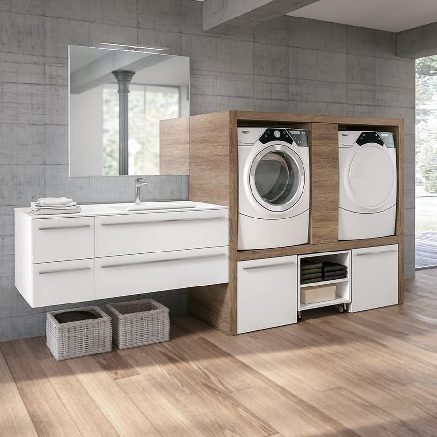 w scheschrank mit platz f r waschmaschine und trockner. Black Bedroom Furniture Sets. Home Design Ideas