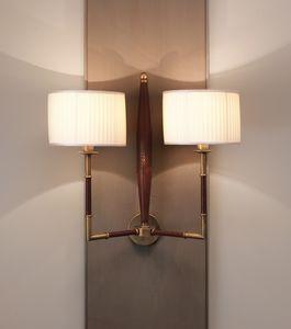 AMMOS HL1006WA-2, Wandlampe aus Leder mit Lampenschirmen