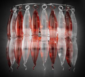 ARENA L 40, Wandleuchte aus gestreiftem Pirex-Glas
