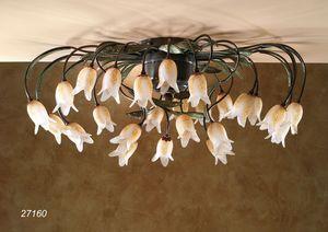 Art. 27160 Butterfly, Deckenleuchte mit Blumen aus Muranoglas