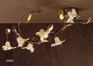 Art. 29880 Jolie, Klassische Deckenleuchte aus Glas und Messing