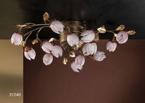 Art. 31240 Fior di Loto, Handgefertigte Deckenleuchte mit Blumen