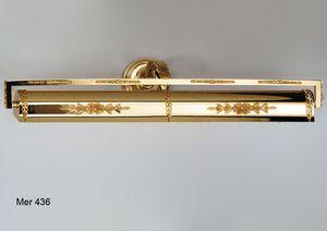 Art. MER 436, Wandlampe zum Bemalen aus vergoldetem 24kt Messing