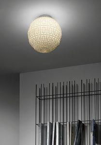 Ball, Sphärische Glasdeckenleuchte