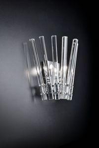 CIRCLE L 27, Wandleuchte in transparentem Kristall