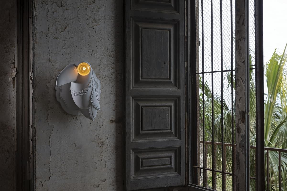 Cubano AP142 1B INT, Toucan geformte Wandleuchte