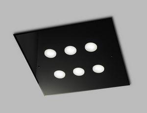 DADO L 60 x 60, Quadratische Deckenlampe aus Glas