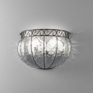 Harem Ma160-030, Wandleuchte im klassischen Stil aus Metall und Glas