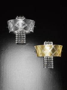 MEDUSA L 30, Wandleuchte mit Kristallanhängern
